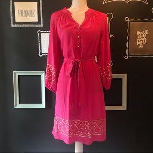 Lilly Pulitzer Bright Pink Silk Dress